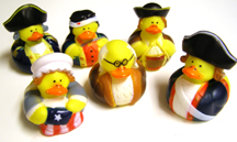 Betsy Ross & Ben Franklin rubber ducks!