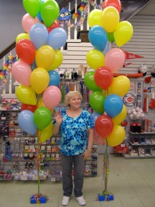 Balloon columns are a great way to bring color to larger spaces, or entrances