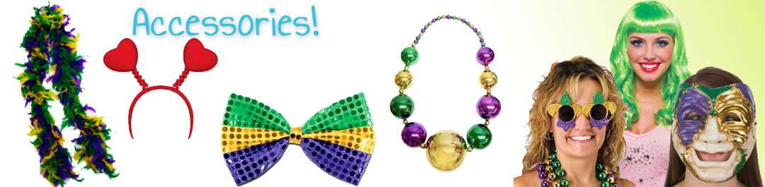 Party and Costume Accessories for Mardi Gras & St. Patrick's Day at Cappels