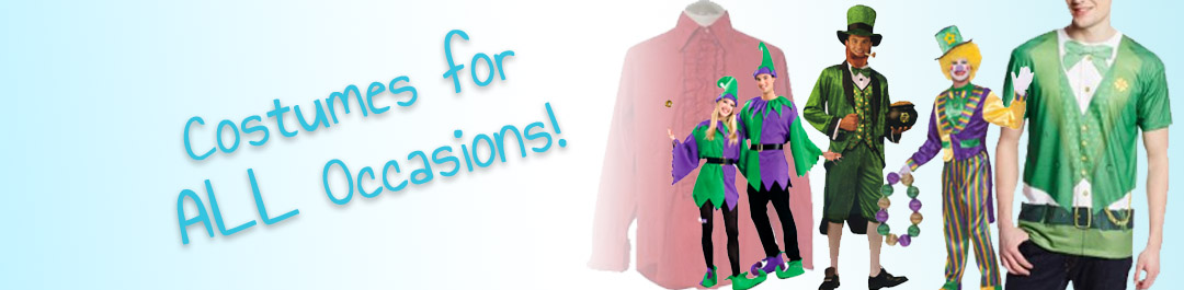Costumes  for Mardi Gras & St. Patrick's Day at Cappels