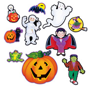 Halloween Cutouts - Set of 10