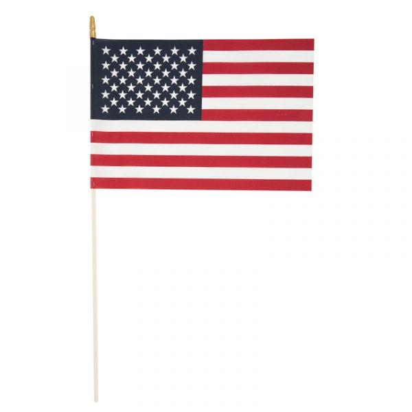 U.S. American Soft Cotton Flag Gold Spear Tip