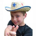 Child's Straw Sheriff Hat
