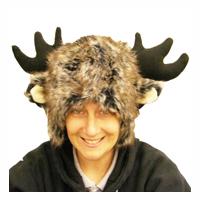 Deluxe Fur Moose Hat