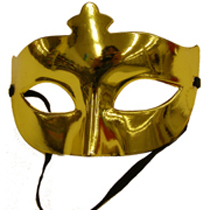 Gold metallic Half Mask