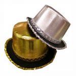 Metallic and Sequin Trim Top Hat