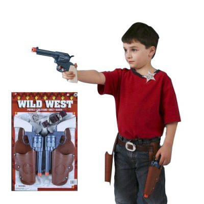 Western Guns and Holster Set