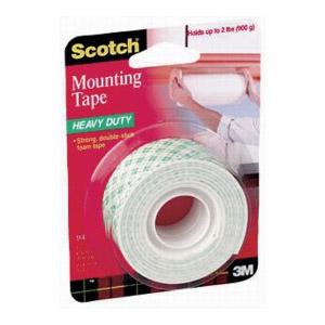 """1"""" Scotch Heavy Duty Foam Mounting Tape"""