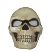 Costume Paper Mache Full Face Skull Mask