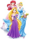 Disney Princess Group Cardboard Stand Up