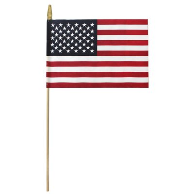 U.S. American Soft Cotton Flag Gold Spear Tip