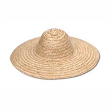 "18"" Natural Straw Hat"