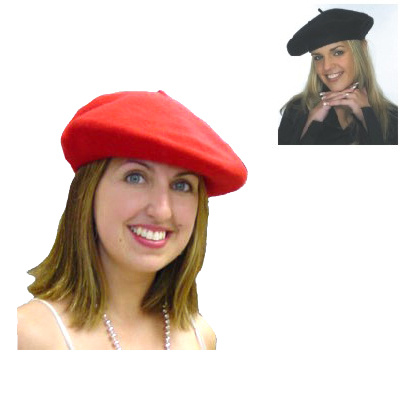 French Artist Beret Red or Black