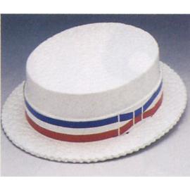 White Styro Skimmer Hat