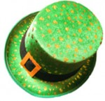 Shamrock Leprechaun St. Patrick Patty's Top Hat