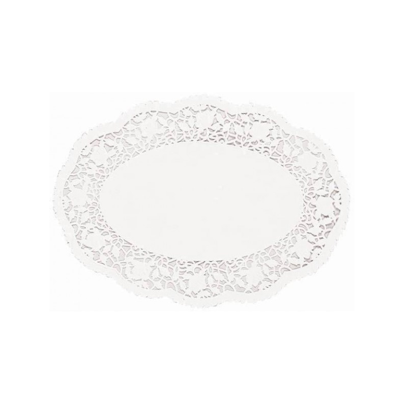 White Oval Paper Doilies