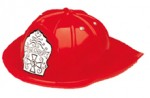 Red Plastic Fire Chief Helmet