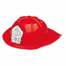 Red Plastic Fire Chief Helmet