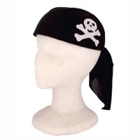 Kids Pirate Scarf Hat - Black and White