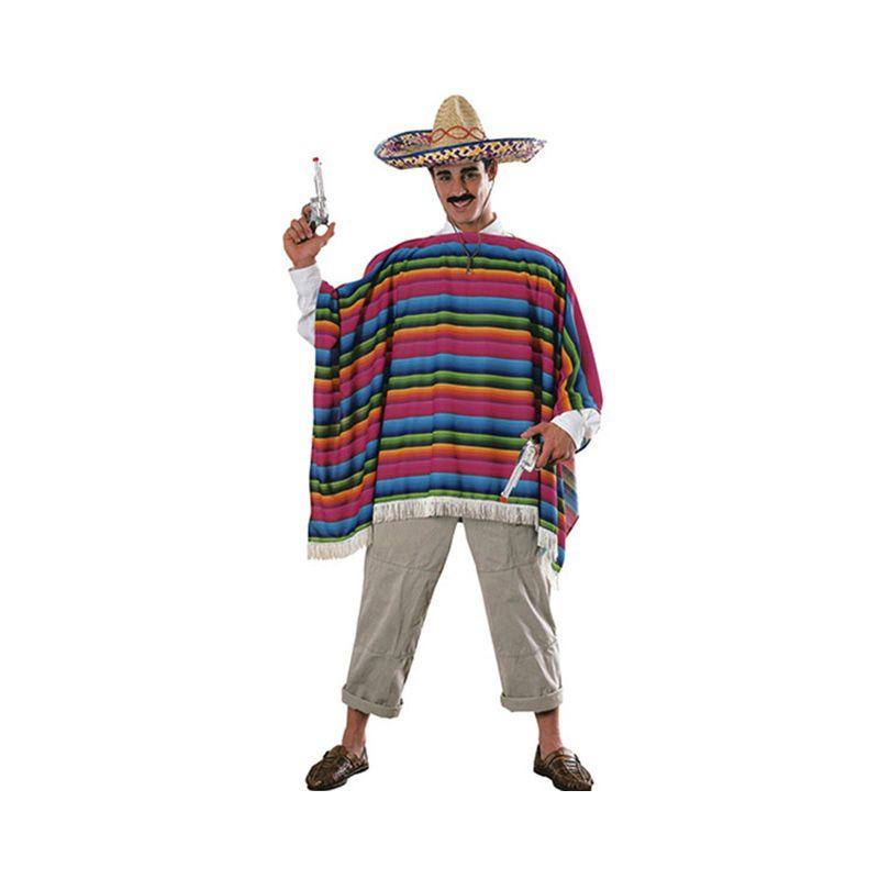 Mexican Serape and Sombrero Set Cinco de Mayo Costume