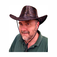 Leatherette Western Hat - Available in Brown or Black