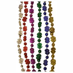 Metallic Mini Dollar Signs Bead Necklace