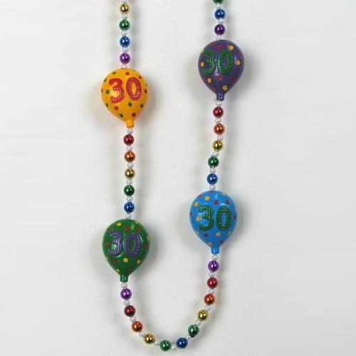 30th Birthday balloon bead necklace