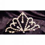 Rhinestone Tiara - Silver #158