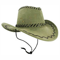 Imitation Suede Western Hat with Lacing