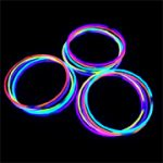 50 Piece Assorted Colors Tube Of Glow Necklaces