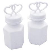 Double Heart Wedding Soap Bubbles