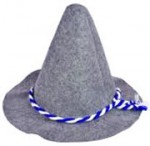 Gray German Floppy Hat with Cord