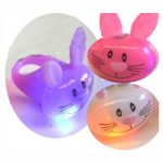 "2"" Party Light-Up Bunny Head Ring - Assorted Colors"