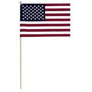 "12"" X 18"" Polyester U.S. Stick Flag"