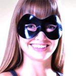 Fabric Shiny Half Mask - Black Metallic