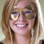Fabric Shiny Half Mask - Gold Metallic