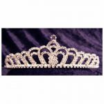 Rhinestone Tiara - Silver #167