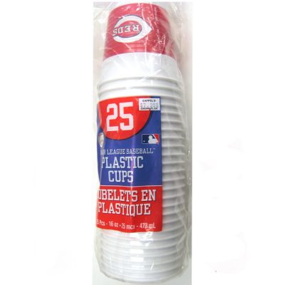 Reds Plastic Drink Cups