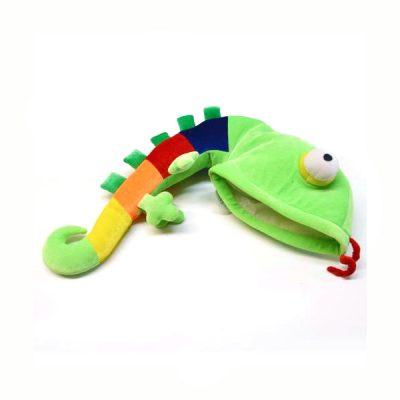 Fabric Lizard Hat Rainbow Tail