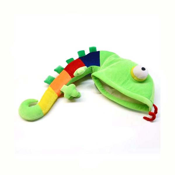 Fabric Lizard Hat Rainbow Tail