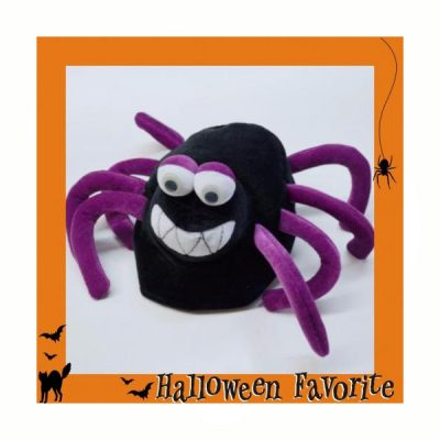 Soft Fabric Spider Hat Wiggle Eyes