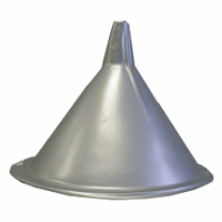 Silver Plastic Tinman Funnel Hat