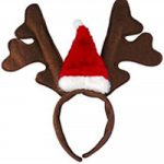 Reindeer antlers with santa hat
