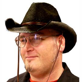 Roll-Brim Western Hat - Black
