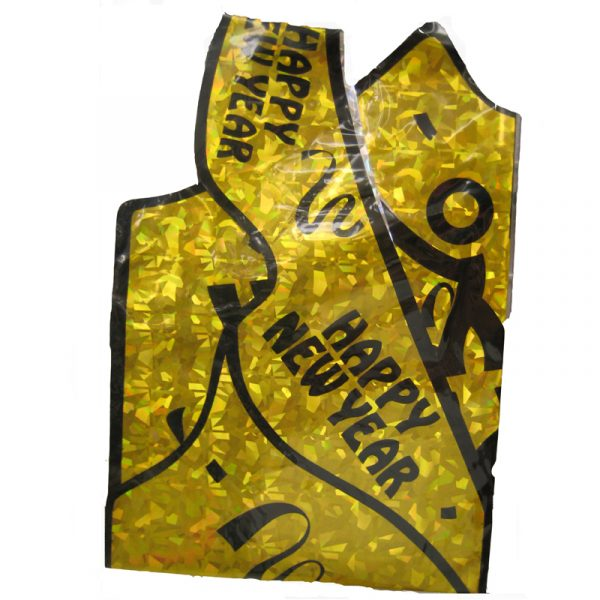 Happy New Year Gold Vest