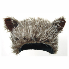 Furry Wolf Headpiece Hat