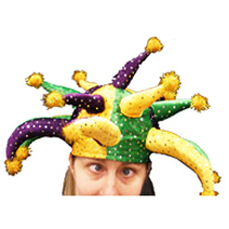 Sequin jester hat
