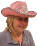Pink Sequin Trim Cowgirl Hat
