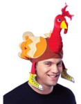 Deluxe Velvet Fabric Turkey Hat with Running Shoes