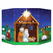 Cardboard Nativity Stand Up